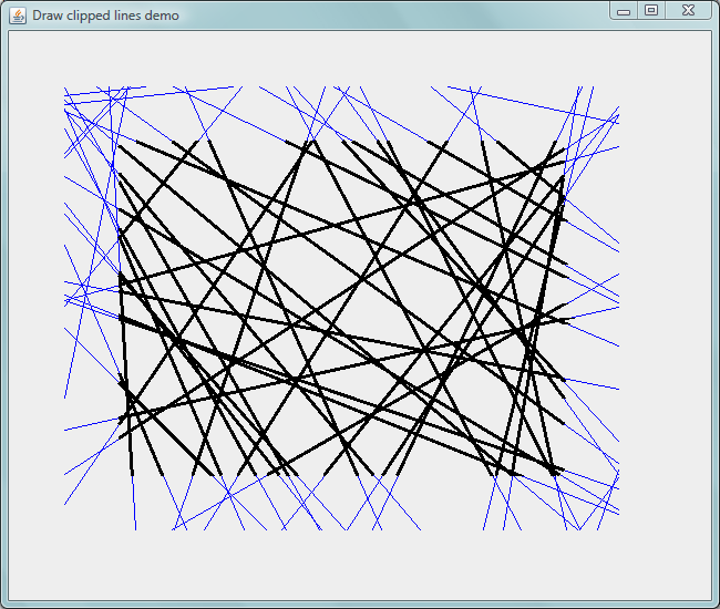 Drawing Lines Java Applet : Javageom geometric computations with java